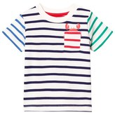 Joules Stripe and Crab Print Tee