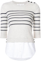 Veronica Beard striped sweatshirt - women - Silk/Cotton/Cashmere - XS