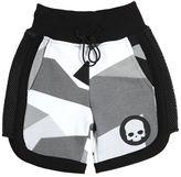Hydrogen Kid Printed Cotton Shorts W/ Mesh Inserts