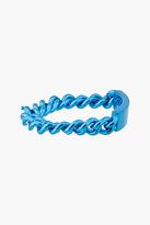 Maison Martin Margiela Blue curb chain I.D. bracelet