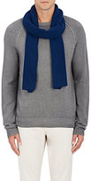 Barneys New York Men's Ribbed Wool Scarf-BLUE