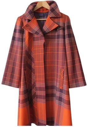 Kenzo Orange Wool Coat for Women