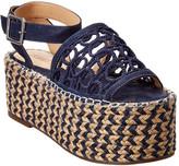Schutz Vanya Suede Platform Sandal