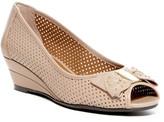 J. Renee Dovehouse Perforated Peep Toe Wedge - Multiple Widths Available