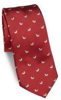 Salvatore Ferragamo Duckling Print Silk Tie