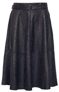 Dorothy Perkins Womens Vila Black Snake Print Midi Skirt, Black