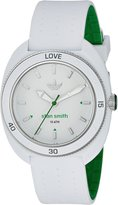 adidas Women's 'Stan Smith' Quartz Plastic and Silicone Automatic Watch, Color:White (Model: ADH3122)