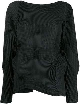 Issey Miyake boat neck blouse