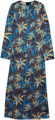 Marni Printed Satin Maxi Dress