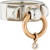 Hermes Two-Tone Diamond Accented Collier de Chien Ring