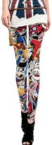 ChouyatouWomen's Fashion Cartoon Comic Printed Skinny Legging Pant