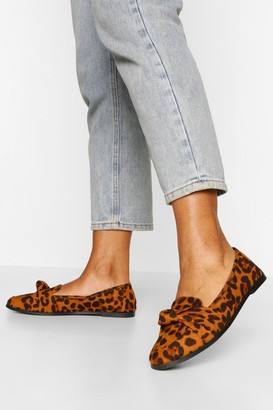 boohoo Wide Fit Knot Front Loafer