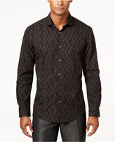 Alfani Men's Geometric Jacquard Shirt, Created for Macy's