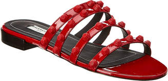 Balenciaga Studded Patent Sandal