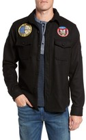 Schott NYC Men's Embroidered Patch Wool Blend Jacket