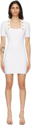 Balmain White Knit Short Dress