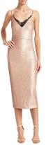 ABS by Allen Schwartz Sequin Lace Trimmed Sheath Dress