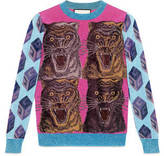 Gucci Viscose-lurex intarsia sweater