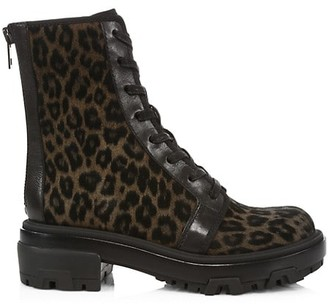 Rag & Bone Shaye Leopard-Print Suede Combat Boots