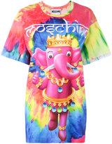 Moschino crowned elephant tie-dye T-shirt - women - Cotton - XXS