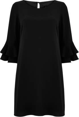 Wallis Black Flute Sleeve Shift Dress