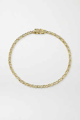 Sydney Evan Evil Eye Eternity 14-karat Gold Diamond Bracelet