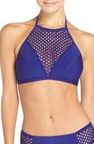 Robin Piccone High Halter Neck Bikini Top