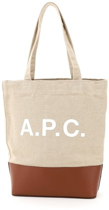 A.P.C. Axelle Logo Print Tote Bag