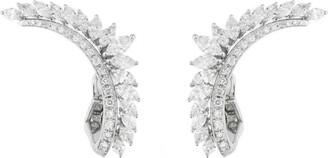 YEPREM White Gold Diamond Ear Cuffs