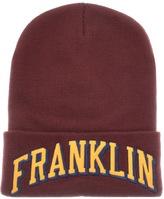 Franklin & Marshall Franklin Marshall Logo Beanie Hat Burgundy