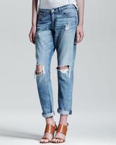 rag & bone/JEAN Boyfriend Moss Ripped-Knee Jeans