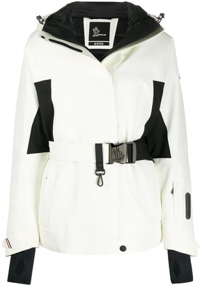 MONCLER GRENOBLE Monochrome Belted Ski Jacket
