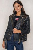 Tommy Hilfiger Gigi Hadid Mix Leather Biker