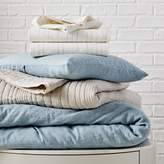 west elm Belgian Flax Linen Styled Bedding Set - Washed Blue Gemstone