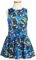 Milly Minis Jewel Print Drop Waist Dress (Toddler Girls & Little Girls)