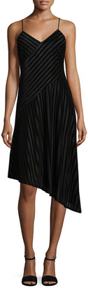 Shoshanna Embroidered Asymmetrical Dress