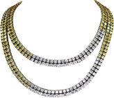 One Kings Lane Vintage Sterling Silver & Crystal Necklace