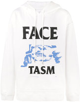 Facetasm logo print hoodie - men - Cotton - One Size