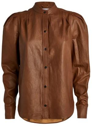 Frame Charlie Leather Shirt