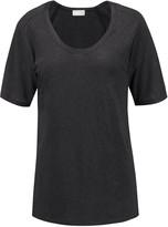 DKNY Silk-trimmed modal-blend jersey T-shirt