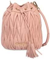 Miu Miu Quilted Leather Bucket Bag