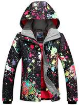 GSOU SNOW Women's High Windproof Technology Colorfull Printed Waterproof Ski Jacket Wear