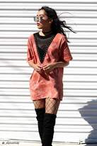 Forever 21 FOREVER 21+ Crystal-Dye Plunging Tee