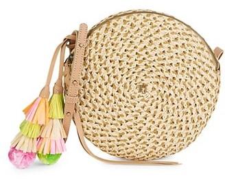 Eric Javits Squishee Bali Raffia Circle Crossbody Bag