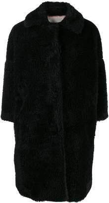L'Autre Chose oversized faux-fur coat