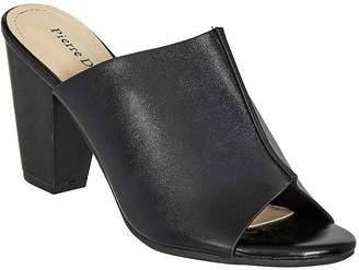 Pierre Dumas Women's Mules black - Black Peep-Toe Allison Mule - Women