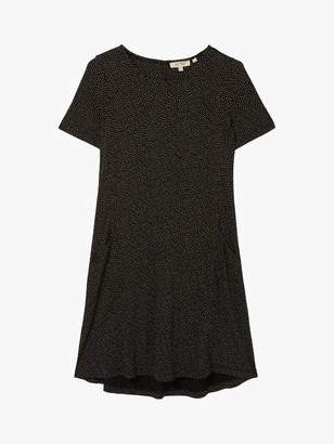 Fat Face FatFace Simone Spot Mini Dress, Black