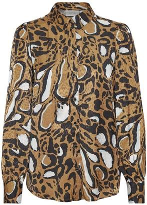 Gestuz LoriGZ Shirt in Brown Leo - small