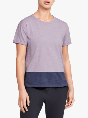 Under Armour Charged Cotton Training Top, Purple/Blue