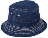 True Religion Dark Indigo Super T Stitched Denim Bucket Hat